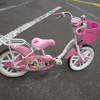 子ども用自転車 16インチ ディズニープリンセス 鍵付き ピンク...