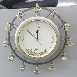 掛け時計 リズム時計 スモールワールドロマンス からくり時計 4...
