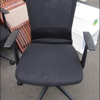 【¥550-】事務 昇降 回転 椅子 イス 黒 チェア