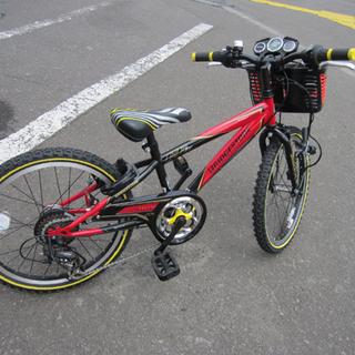 子ども用自転車 20インチ ブリヂストン 切替付き 鍵付き 赤×...