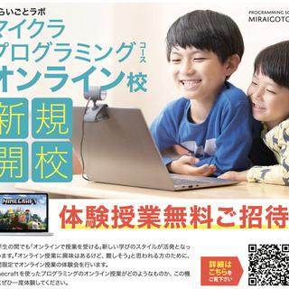 【マイクラプログラミング】オンライン授業無料体験会開催!