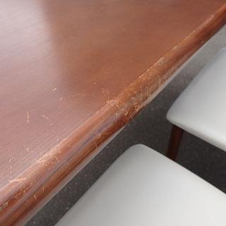 新札幌発/冨士ファニチア◆ダイニングテーブルセット/幅150×奥行85×高75㎝◆椅子3脚/日本製 - 売ります・あげます