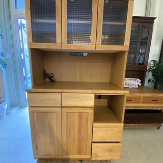 レンジボード (有)隅木工所 食器棚 収納棚 茶 中古品