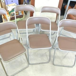 PLUS(プラス) 折りたたみパイプ椅子 1点1000円/計7点...