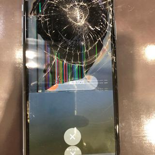 弾痕のような割れ方をしてしまったiPhone XRの修理もお任せ...