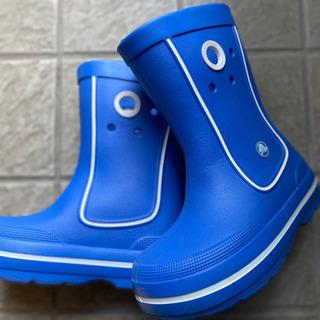クロックス 青色長靴 19センチ
