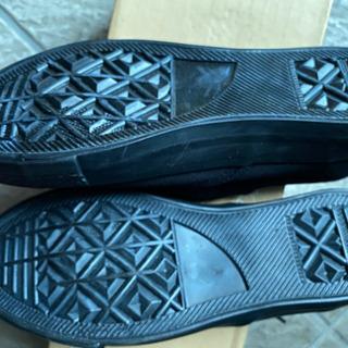 新品 黒い紐の靴22、5センチ − 京都府