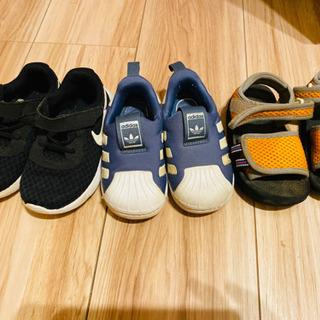 13,14サイズ 子供の靴 3足
