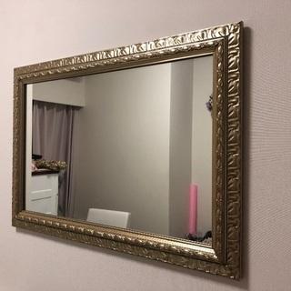 鏡 壁掛け ミラー アンティーク 壁掛け鏡 北欧 壁掛けかがみ