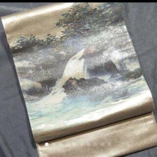 👘 逸品 高級 正絹袋帯 螺鈿 引箔 ★ 絵画の様 フォーマル 未使用