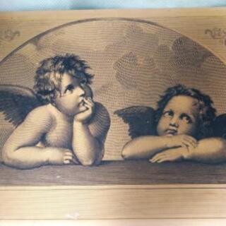 システィーナの聖母 天使 インテリア 銅板?