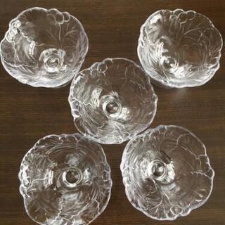 ガラスカップ5客セット かき氷 アイスクリーム フルーツ