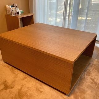 無印良品 ユニットソファボックステーブル タモ材