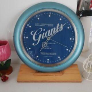 ジャイアンツ電波時計。ジャンク品