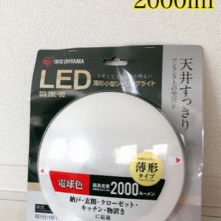 【新品未使用】LED薄形小型シーリングライト 電球色 SCL20-UU