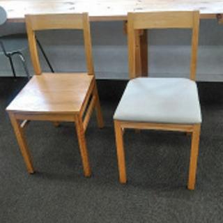 画像の右側 中古木製、布張りの椅子 レトロ 17脚あります