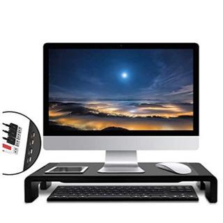 モニタースタンド 机上台 4*USB PCスタンド 可変タイプ ...