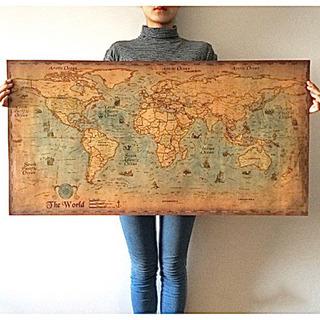 世界地図《新品未使用》美品