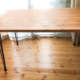 ダイニングテーブル 幅120cm ヴィンテージ調 男前 天然木 ...