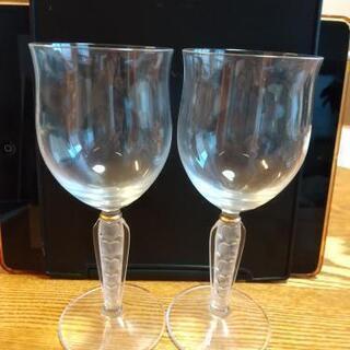 【差し上げます】ワイングラス2個