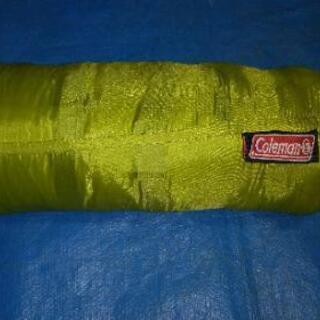 Coleman 寝袋 190X84cm 封筒型シュラフ 緑色