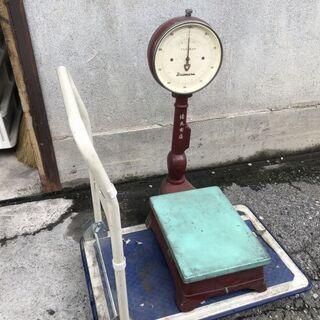 ★動作〇★ 大丸式自動台秤 秤量 100kg 最小目盛500g