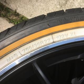 手渡し限定 ホイール4本セット タイヤ付き 22インチ レイズ ホムラ − 兵庫県