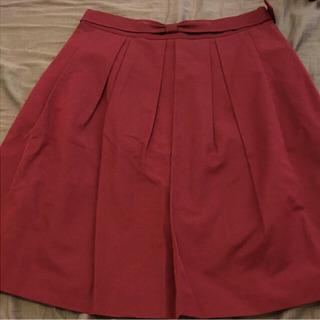 新品 半額以下!カールパークレーンスカート 赤