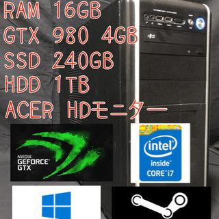 i7 4770 GTX980 全てコミコミ ゲーミングPC