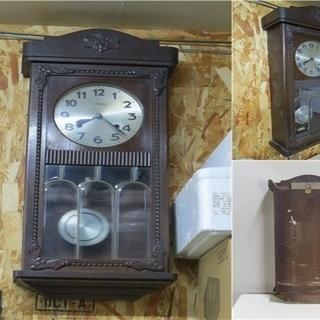 CARO ゼンマイ式 柱時計 縦 約78cm 時間は確認済み /...