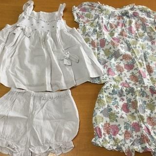 女の子 夏服 セットアップ 80(取引中)