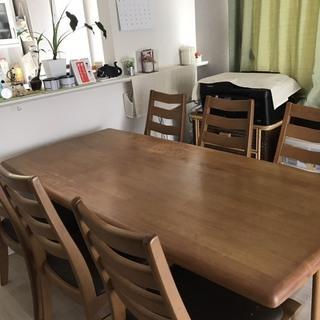 【受付終了】ダイニングテーブルセット(6人掛け)