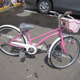 子ども用自転車 22インチ 鍵付き 白×ピンク 子供用 札幌 東区