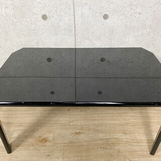 R*992 山善 YAMAZEN センターテーブル ブラック ウ...