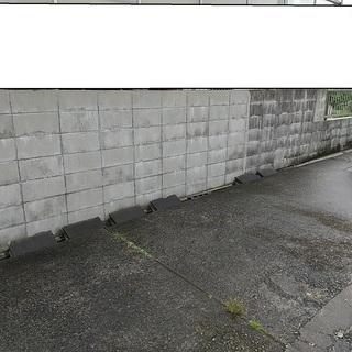 コンクリートブロック、外壁など洗浄します