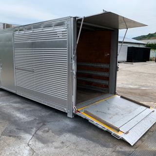 No.378 アルミバン 2t アルミ箱 バイク倉庫 トラック...