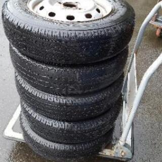 スバル サンバー タイヤ+スチールホイール5本