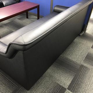 応接セット 革ソファー、机セット 状態綺麗です。直接引取
