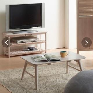 MIGNONテレビ台(白、木、カントリー調)幅80