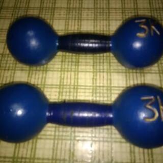 鉄アレイ 3kg 2本1セット (✖ダンベルは重さが変えられる物)