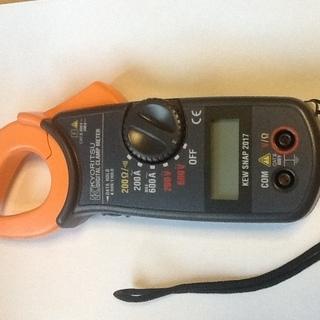 デジタルクランプメーター交流電流電圧抵抗測定器