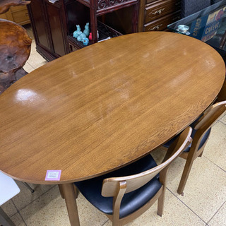 ダイニング4点セット 木製テーブル チェア ベンチ リビング 家...