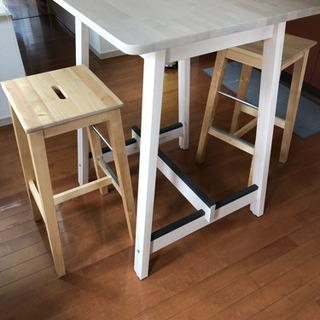 Ikea バーテーブルセットNorraker