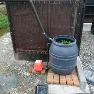 雨水樽水槽(雨水樽改造による)