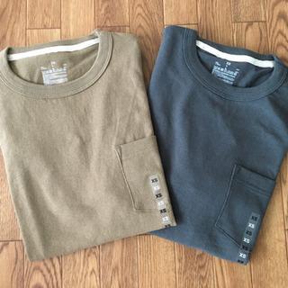 【無印良品】太番手 天竺編みポケット付き半袖Tシャツ  2…
