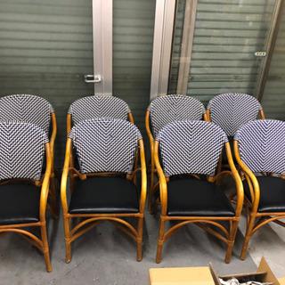 ■急募■椅子 お洒落 木製 8脚 関西圏配可能 引き取り可 ■