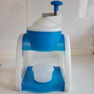 青のかき氷機