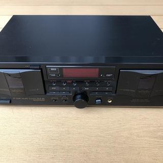 ★TEAC ダブルカセットデッキ W-760R 通電確認 …