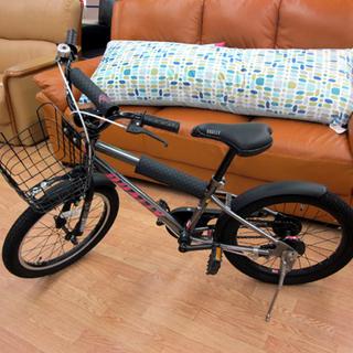 子ども用 自転車 18インチ DUALLY スタンド付き カゴ付...