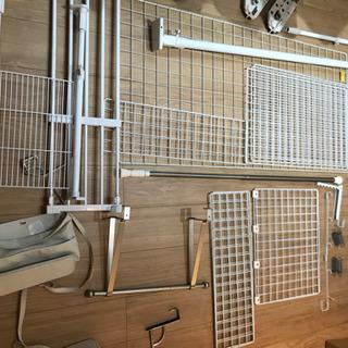 無印良品ドア収納 ドアハンガー つっぱり棒 白い網 他多数